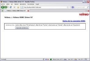 Ejemplos de Velneo ODBC Driver V7 11
