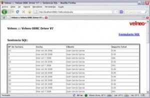 Ejemplos de Velneo ODBC Driver V7 12