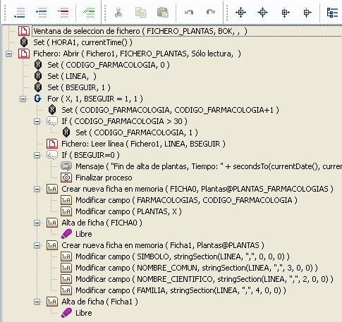 Importación de una base de datos en texto plano 1