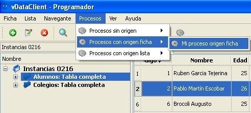 Ejecución de procesos en vDataClient 5