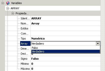 Manejo de arrays en V7 1
