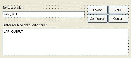 Aplicación de ejemplo de puerto serie