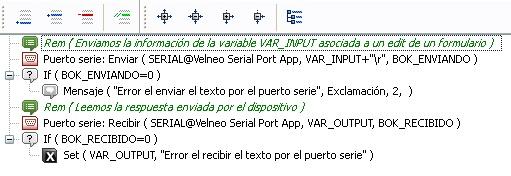 Proceso para enviar/recibir información del puerto serie