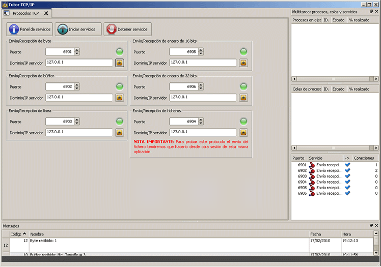Objeto TCP en Velneo V7 7.3 2