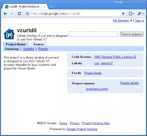 vCurldll en Google Code