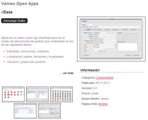 Velneo V7.8: Nueva ficha Open Apps 1