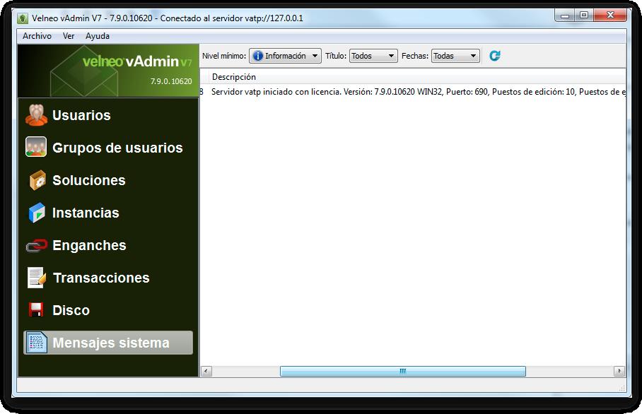 Listado de novedades Velneo V7 7.9.0 18
