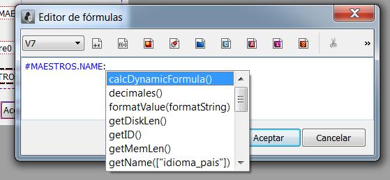 Autocompletado en el editor de formulas V7 1
