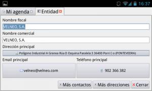 Integrar Velneo con un móvil Android (llamar, enviar email y mapas) 2