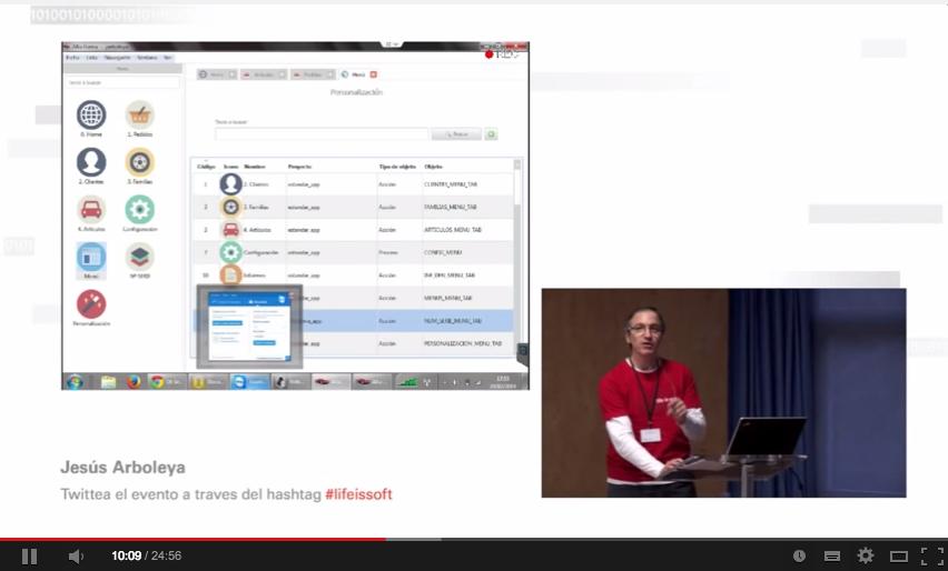 Cómo personalizar aplicaciones en ejecución. Vídeo