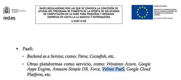 Plataformas como servicio: Windows Azure, Google App Engine, Amazon Simple DB, Force, Velneo Cloud, Google Cloud Platform