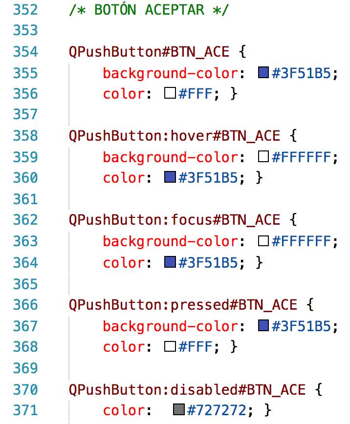 Velneo vERP CSS botón aceptar
