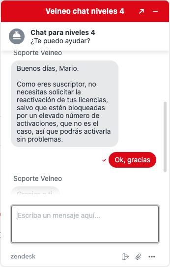Nuevo servicio de chat de soporte para suscriptores de nivel 4 4