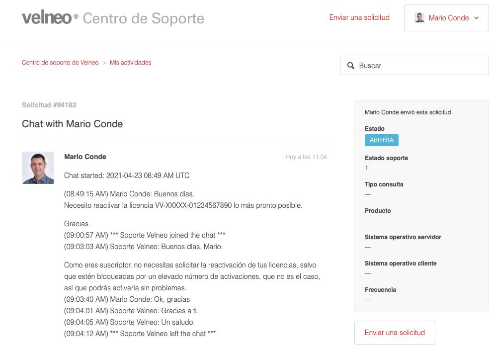 Nuevo servicio de chat de soporte para suscriptores de nivel 4 5