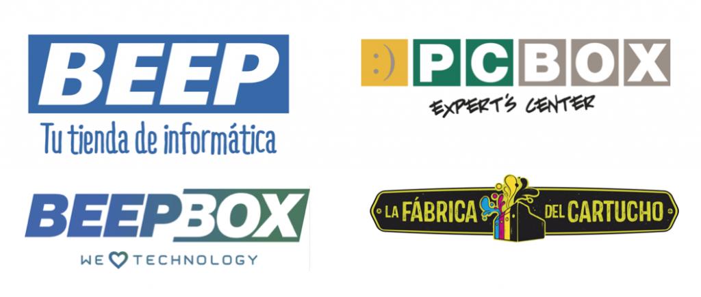 Las tiendas BEEP, PCBOX, BEEPBOX y La Fábrica del Cartucho gestionadas con Velneo 2