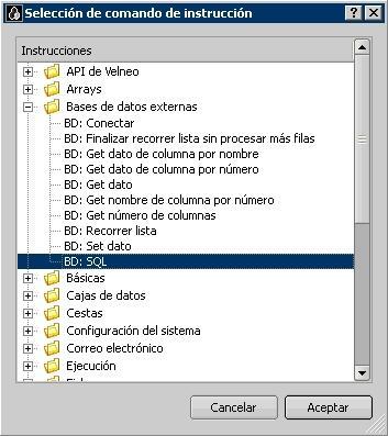 Comandos de conexión con bases de datos externas 1